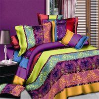 Wholesale Wholesale Cotton Sheet Sets - Soft 3D Duvet Cover Bedding Set Creative 3d Bedding 4Pcs duvet cover+bed sheet+2*pillow shams Ocean Theme Printed Bed Sheets Quilts DHL