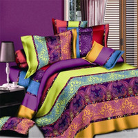 Wholesale Cotton Silk Sheet Sets - Soft 3D Duvet Cover Bedding Set Creative 3d Bedding 4Pcs duvet cover+bed sheet+2*pillow shams Ocean Theme Printed Bed Sheets Quilts DHL