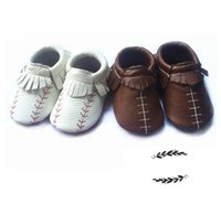 Wholesale Football Products - boys moccs shoes baby product football shoes baseball shoes moccasins for kid for baby infant booties
