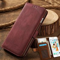 Femmes d'affaires de luxe / Hommes Card Slot Wallet Holster Housse en cuir pour Apple iPhone 6 6s Plus 7 7Plus Phone Funda Bag
