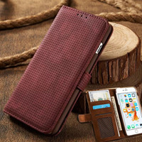 Wholesale Holster Business Card Case - Luxury Business Women Men Card Slot Wallet Holster Leather Cellular Case Cover For Apple iPhone 6 6s Plus 7 7Plus Phone Funda Bag