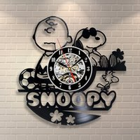 Wholesale Wedding Gifts Wall Clocks - Snoopy Vintage Office Decor Vinyl Record Wall Clock Wedding-Decorate Your Home With Decor Vintage Art-Best Gift For Friend, Man And Boy good