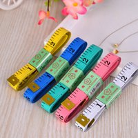 Wholesale Tailor Wholesale Clothing - Body Tape Measure Tool Houshold Measure Clothes Length 150CM Tailor Tape Double Iron Head High Quality Tape Colorful Durable