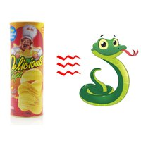 Torne-se Snake Frighten Magic Chips De Batata Pode Bounce Snake Chips Snake Moving Funny Scary Toy Spoof Fool's Day
