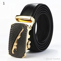Barato Jaguar De Cinto-cinturão de fivela automático Venda por atacado Famoso Marca Jaguar Belt Men Top Quality Genuine Fashion Luxury Leather designer business ceinture