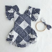 Wholesale vintage clothing boutiques - Floral Girls Boutique Clothing Sleeveless Baby Clothes toddler girl clothing Vintage Tassle Baby Girls Bodysuit Outfit