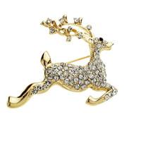 Wholesale Reindeer Figure - Vintage Style Reindeer Brooch Pin for Christmas
