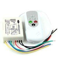Wholesale Wireless Lamp Way - Wholesale- 1 PC Anti-interferen Wireless 4 Ways ON OFF 220V Light Remote Control Lamp Switch