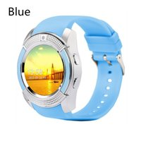 Wholesale New Display For Android Phone - New Arrival V8 Smart Watch Phone Bluetooth 3.0 IPS HD Full Circle Display MTK6261D Smartwatch VS GT08 DZ09