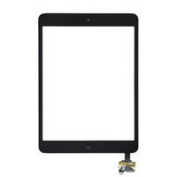 Wholesale 50PCS Top Quality Black White For iPad Mini iPad mini Touch Screen Digitizer Panel Outer Glass With ic Connector Home Button DHL Free