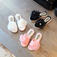 Wholesale Girls Sandals Flowers - Summer Children New sweet flower Korean Fashion Girls Sandals Toddler Beach Wedge Sandals kids princess Slippers baby Shoes Footwear A332
