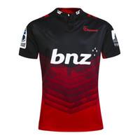transferencia de camisetas al por mayor-2017 Rugby League Nueva Zelanda Super Rugby Union Crusaders jersey de alta temperatura de transferencia de calor jersey de rugby