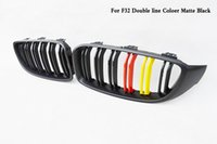 Wholesale Double line Carbon fiber Front Kidney Grille Fit For BMW Series F32 F33