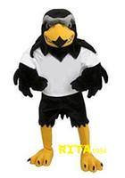 Wholesale Eagles Mascot Costume - Eagle Hawk Falcon Mascot Costume Fancy Party Dress Suit Free Shipping