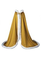 Wholesale Hooded Cloaks For Cheap - Hot Sale Cheap Long Faux Fur Wedding Cloaks with Hooded For Winter Warm Women Cloaks for Special Occasions 2018 Hot Sale CPA974