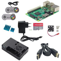 Wholesale Raspberry Cooler - Freeshipping Raspberry Pi 3 Model B+ABS Case+Power Adapter+HDMI Cable+Cooling Fan+8G Class 10 SD Card+Aluminum Heat Sink+Gamepad for RPI 3