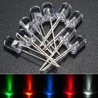 bulbo de diodo venda por atacado-brilho Rodada Verde Azul Vermelho Light Emitting Diode 5 milímetros 10 milímetros Branco Amarelo Água Limpar Top Diodes lâmpada lâmpadas Kit DIY