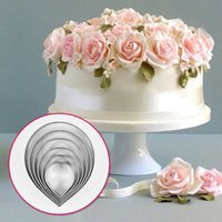 6pcs Kitchen Baking Tool Fundante Party Wedding Decor Droplet / Rose Petal Cookie Cake Cutters Biscuit Pastry Cute ZH819
