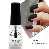 Wholesale Nail Polish Oil Matte - Wholesale-Free Shipping LULAA 6ML Nail Polish Magic Super Matte Transparent Nails Art Gel Frosted Surface Oil Nail Polish high quality