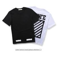 Wholesale Clots Woman - Off-white Printed Hip Hop Mens T-shirt Short Sleeve 2017 Summer Streetwear Men Women Tee Shirts Mens Clot