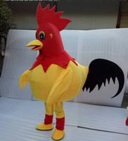 traje de frango grátis venda por atacado-Venda quente frango Mascot Costume para Adulto Fancy Dress Party Halloween Costume frete grátis