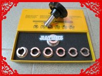 Wholesale wrench case - Wholesale- Watch Case Wrench Opener Set 5537 For Rlx 0yster 7 Chuck Die 36.5mm Tool Watch Repair Tool Kit