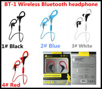 Wholesale New Models Cell Phone - 2016 High Quality New Model BT-1 Handsfree Wireless Stereo Sports Headset CSR4.1 Bluetooth Headphone For Mobile Phone Free shipping