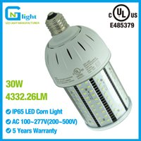 Wholesale Patio Outdoor Living - 30W 100-277V LED Corn Bulb 6000K 100W MH Replacement Porch Patio Lights PC Cover for Indoor Outdoor Area