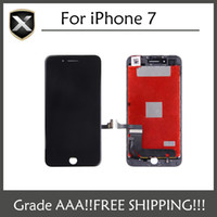 Wholesale Wholesale Glass Display - Quality AAA LCD Display For iPhone 7 LCD Screen Touch Glass Screen Digitizer Full Assembly black&white DHL Free Shipping