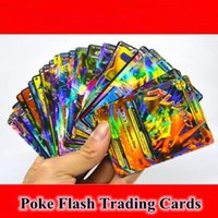 Wholesale Flash Play Games - 60pcs set Poke Flash Trading Cards Poke Mon Go GX EX MEGA Trading Card Games Playing English Collectable Card Kids Gifts CCA6757 120lot