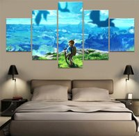 Wholesale The Legend of Zelda Breath of Pieces Home Decor HD Printed Modern Art Painting on Canvas Unframed Framed