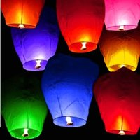 Wholesale Wishing Balloon For Wedding - NEW Wishing Lantern fire balloon Chinese Kongming lantern Wish Lamp Sky Lanterns for Wedding Party Paper Sky Fire Lanterns
