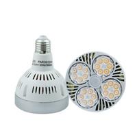 ingrosso la luce del punto di inseguimento-15W 24W 35W Faretto PAR30 per illuminazione spot E27 per proiettori a progetto Lampadina a fascio luminoso a 15 gradi LED con Osram SMD3030 LED