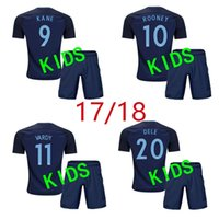 Wholesale New England Football Jersey - new A+++ 17 18 kids World Cup Soccer jersey Kits england ROONEY KANE STURRIDGE STERLING HENDERSON VARDY 2018 away child Football shirts