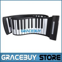 Wholesale Rolling Piano Keyboard - Wholesale- USB MIDI Roll Up Foldable Electric Piano Folding 88 Keys189 Tone Portable Rubber Keyboard Electronic Rollup Pianos