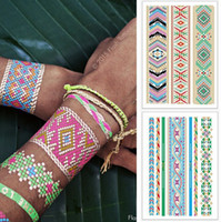Wholesale Temporary Tattoos Gold Color - Wholesale- 2pcs lot Body Art Flash Tattoos Metallic Temporary Tattoo Color Flash Tatoo Sleeve Tatuagem Henna Paste Taty Shimmer Tattoo Gold
