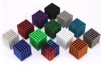 bola de quebra-cabeça magnética venda por atacado-Buckyball 5mm Bola Magnética Cubo Mágico Enigma Metaballs Magnetic Bola Ímã Colorfull Brinquedos Mágicos 216 pçs / set 16 cores com caixa
