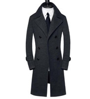 Wholesale Casaco Inverno Masculino - casual double breasted woolen coat men trench coats overcoat mens cashmere coat casaco masculino inverno erkek england