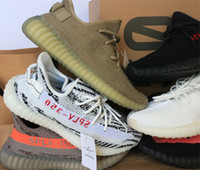 Wholesale Canvas Shoes Size 12 Women - Correct version Bred Zebra SPLY 350 v2 Boost triple white UV light CP9366 Men Women 350 V3 Running Shoes size 5-13 12 colors
