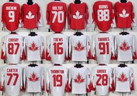 Camisolas de hóquei de gelo de WC / Red 2016 branco barato # 9Duchene # 70 Holtby # 88Burns # 87Crosby # 16 Toews # 91 Tavares # 77Carter # 19 Thornton # 28Giroux Jerseys