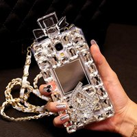 Wholesale Galaxy Case Handmade - 08 Handmade Gorgeous Rhinestone Perfume Bottle Phone Protect Back Cover Cellphone Case For Samsung Galaxy iPhone 5 5s 6 6 Plus