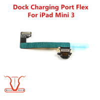 Wholesale Ribbon Mini Usb Cable - For iPad Mini 3 High Quality USB Charger Charging Connector Port Dock Flex Cables Ribbon Replacement For iPad mini 3 Black White Colour