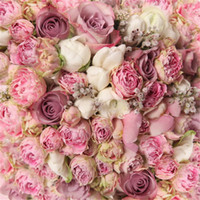 Wholesale 8x8ft Spring Pink Roses Flower Photography Backdrops Newborn Baby Children Photo Background Studio Props