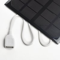 Wholesale Quality Solar Panels - CCC Quality certification 6v 3w 580-600MA solar panel USB Solar Battery Charger For iPhone MP3 MP4 PDA Black