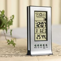 Wholesale Keyboard Europe - monitor keyboard switch box Thermometer Hygrometer Weather Station Wireless Humidity and Temperature Monitor with Alarm Clock