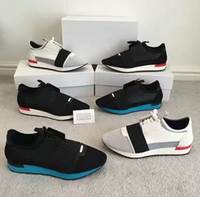Wholesale New ss Race Runners Perfect quatily Mens Trainers Lace Up casual shoes With original box and dust bag Size