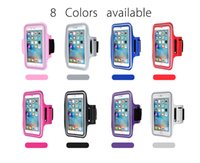 Para Iphone 8 Impermeable Deportes Running Case Brazalete Running Bag Entrenamiento brazalete Holder Pounch para iphone Samsung LG CellPhone Brazalete Band Band