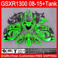 Wholesale Black Hayabusa Fairing Kit - 8Gifts 23Colors For SUZUKI Hayabusa GSXR1300 08 09 10 11 12 13 14 15 19NO42 GSX R1300 black flames GSXR 1300 2012 2013 2014 2015 Fairing Kit