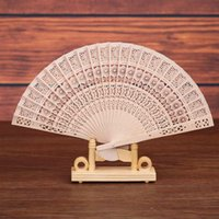 Wholesale Wooden Handled Fans - Hand Fans Chinese Vintage Wooden Bamboo Folding Wedding Party Flower Pattern Fan High Quality Handheld Dance Fan For Stage Performance