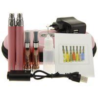 Wholesale Double Egos Ce5 - eGO CE5 Double kit 2 eGo CE5 Double Zipper Electronic Cigarette Starter Kits 650mAh 900mAh 1100mAh eGo-T Battery with CE5 Atomizer Kit Insto